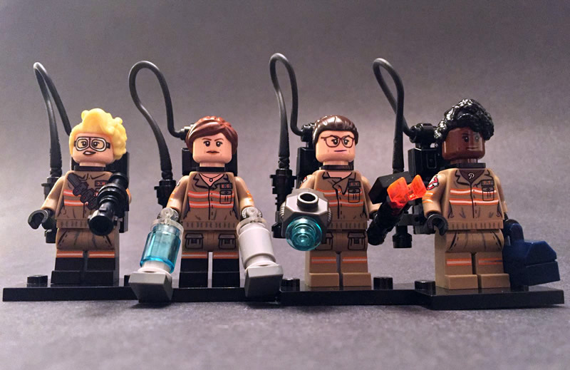 Abby Yates, Erin Gilbert, Jillian Holtzmann, Patty Tolan Mini Figure Front