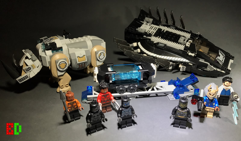 Nakia LEGO Super Heroes Figur Minifig Black Panther Royal Talon Klaue 76100